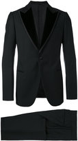 Armani Collezioni evening suit - men - Silk/Cotton/Polyester/Wool - 48