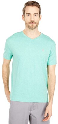 Polo Ralph Lauren Classic Fit V-Neck Tee (Expedition Dune Heather) Men's T Shirt