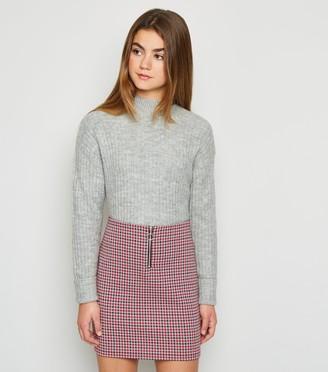 New Look Girls Dogtooth Check Skirt