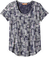Joe Fresh Women's Print Slub Knit Tee, Indigo (Size XL)