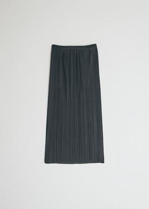 Pleats Please Issey Miyake Women's Basics Skirt in Black, Size 4 | 100% Polyester