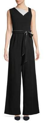 Calvin Klein Sleeveless Self Tie Jumpsuit