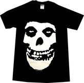 Impact The Misfits Punk Rock Band Distressed Large Skull Logo Adult T-Shirt Tee