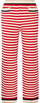 Gucci Cropped Striped Cotton-blend Straight-leg Pants - Red
