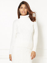 New York & Co. Eva Mendes Collection - Mixed-Stitch Turtleneck Sweater