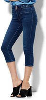 New York & Co. Soho Jeans High-Waist SuperStretch Legging - Crop - Braided Trim - Polished Blue Wash
