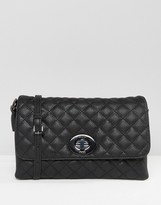 Marc B Yaz Quilted Twist Lock Cross Body Bag