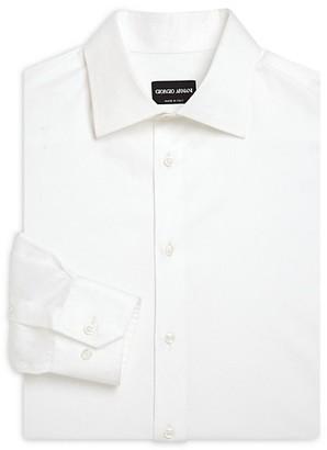 Giorgio Armani Regular-Fit Cotton Dress Shirt
