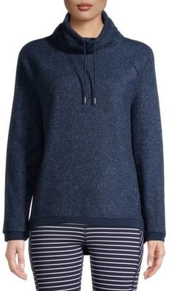Avia Women's Active Polar Fleece Pullover Sweater with Funnel Neck