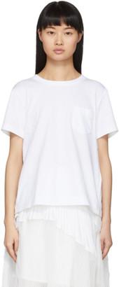 Sacai White Open Back T-Shirt