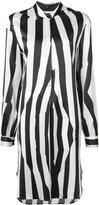 Ann Demeulemeester striped tunic dress - women - Silk/Spandex/Elastane - 38