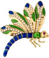 Judith Leiber 18K Diamond Dragonfly Brooch