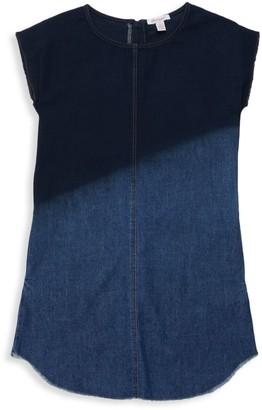 Ella Moss Girl's Dip-Dye Denim Dress