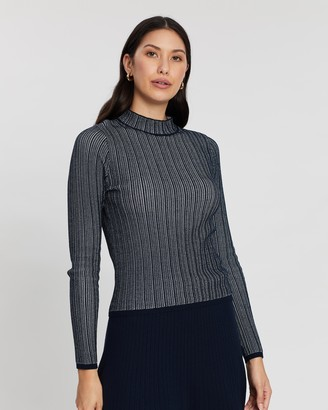 Banana Republic Stitch Mock-Neck Knit