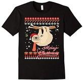 Men's Ugly Christmas Sweater Sloth T-shirtCute Sloth Xmas Shirt 3XL