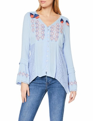 Joe Browns Women's Crinkle Embroidered Blouse