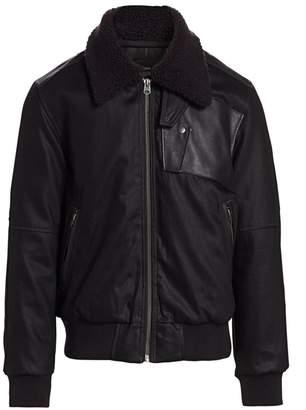 G Star Raw Bollard Faux Fur Collar Bomber Jacket