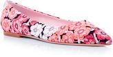 Giamba Floral Jacquard Skimmer Flats