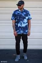 21men 21 MEN Crystal Dye Denim Shirt