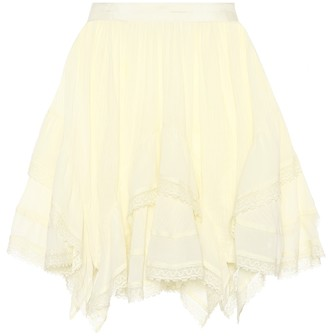 Ulla Johnson Hollace lace-trimmed cotton skirt