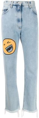 Natasha Zinko Smiley high-rise straight jeans