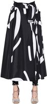 Max Mara Flared Printed Taffeta Skirt