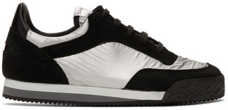 Comme des Garçons Shirt Black and Silver Spalwart Edition Pitch Low Sneakers