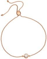 Curio Stud Slider Bracelet Natural White Zircon & Rose Gold