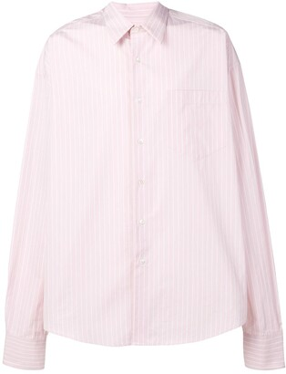Ami Oversize Long Sleeve Shirt With Chest Pocket