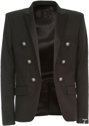 Balmain Jacket Collection Fit 68 Wool Satin Collar