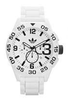 adidas Men's Newburgh White Chronograph Rubber Strap Watch