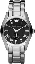 Emporio Armani Classic Round Stainless Steel 42.5mm Watch, Black