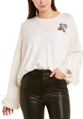The Kooples Lily Patch Wool & Cashmere-Blend Sweater