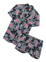 Cosabella Bella Printed Short Sleeve Top & Short Pajama Set