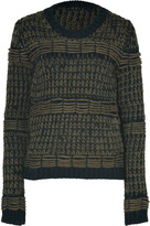 McQ by Alexander McQueen Military Green/Black Hand Knit Pullover