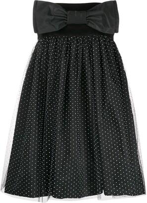 Brognano Strapless Flared Dress