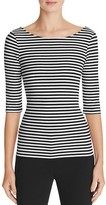 Theory Yorisa Striped Scoop-Back Tee