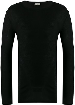 Saint Laurent long sleeve ribbed T-shirt