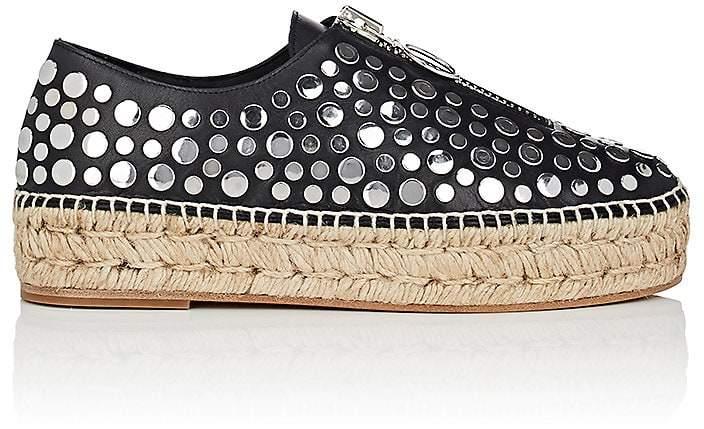 Alexander Wang Women's Devon Studded Leather Platform Espadrilles