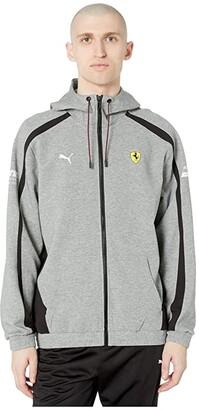 Puma SF Hooded Sweat Jacket (Medium Gray Heather 2) Men's Coat