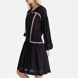 La Redoute Collections Tasselled Braided Boho Dress