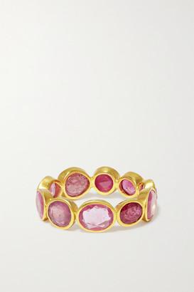 Pippa Small 18-karat Gold Ruby Ring - 6