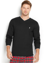 Polo Ralph Lauren Men's Solid Tipped Thermal V-Neck Top