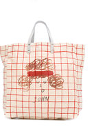 Bobo Choses checked tote bag - kids - Cotton/Organic Cotton - One Size