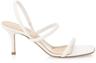 Gianvito Rossi Leather Slingback Sandals