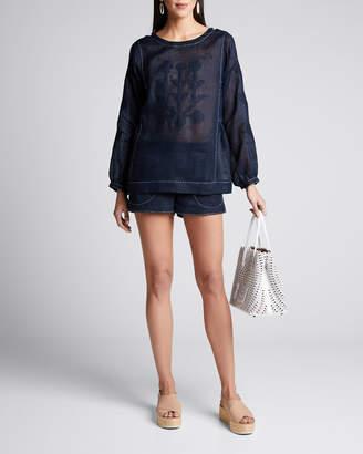 Vita Kin Nepal Embroidered Pajama Shorts