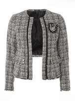 Dorothy Perkins Black And White Boucle Box Jacket