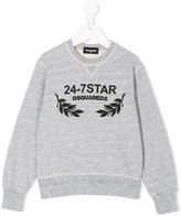 DSQUARED2 branded sweatshirt - kids - Cotton/Rayon - 10 yrs