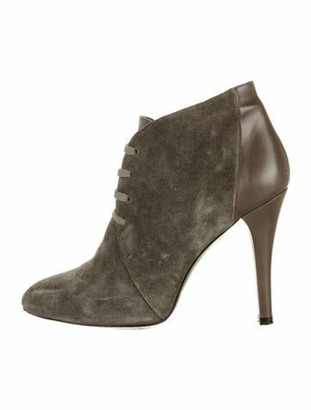 Barbara Bui Suede Lace-Up Boots Green
