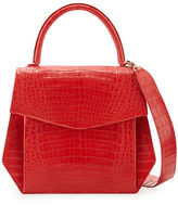Nancy Gonzalez Crocodile Large Structured Top-Handle Bag